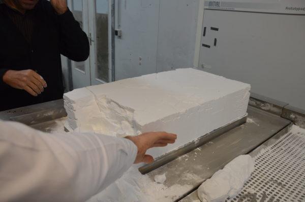 semelles orthopédiques en impression 3D dans une masse de polyamide 12